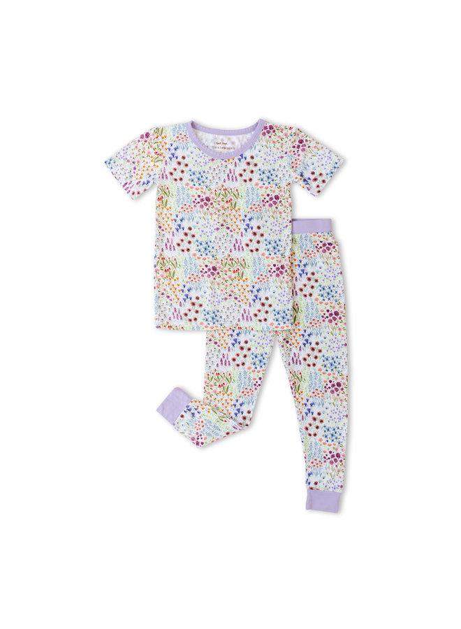 Flower Fields Short Sleeve Pajama