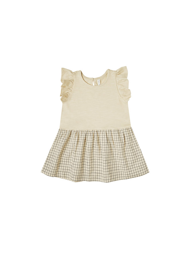 Grid Coury Dress - Butter