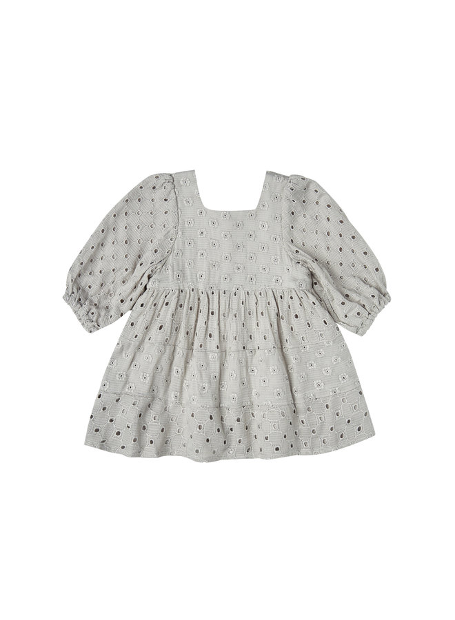 Gretta Babydoll Dress - Blue Fog