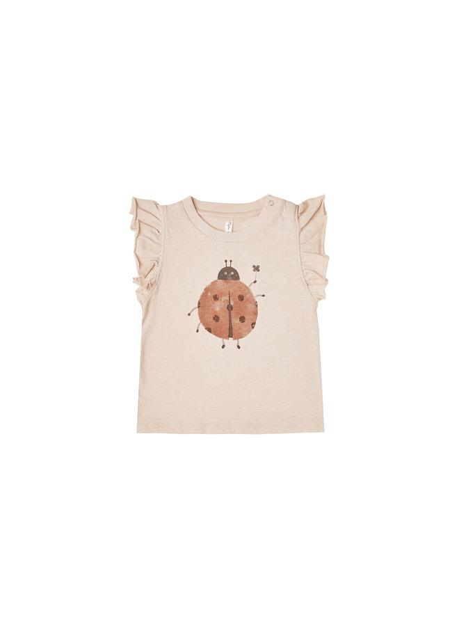 Ladybug Ruffle Tank - Shell