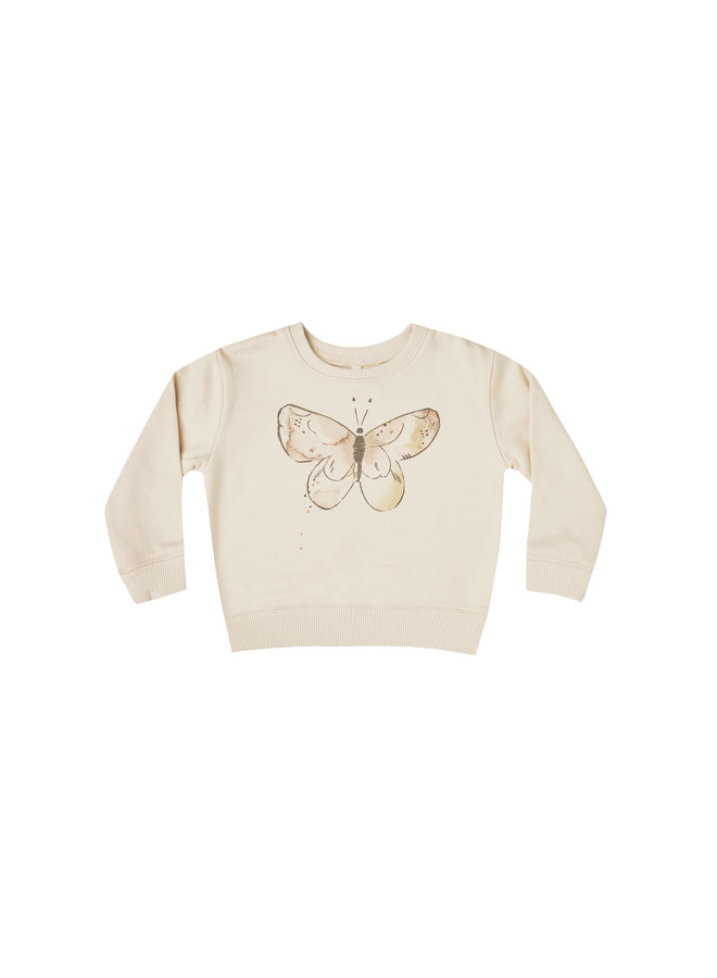 Butterfly Terry Sweatshirt - Natural