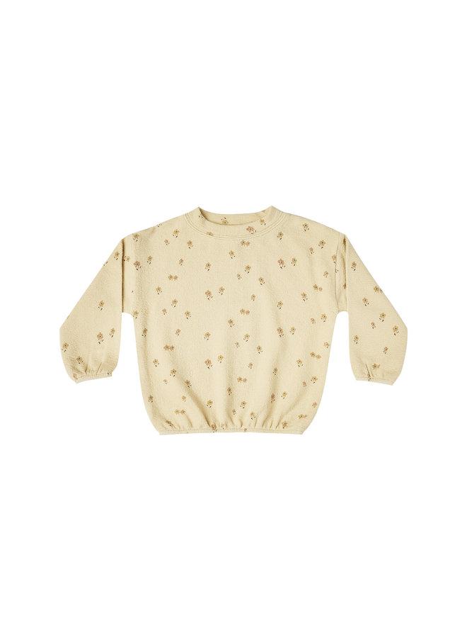 Little Flower Slouchy Pullover - Butter