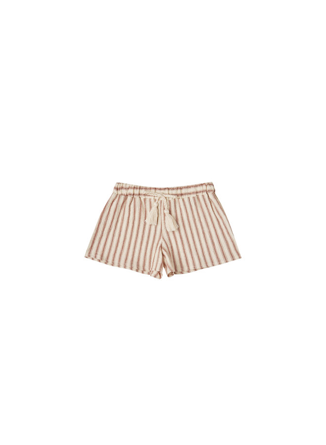 Striped Solana Short - Natural/Amber