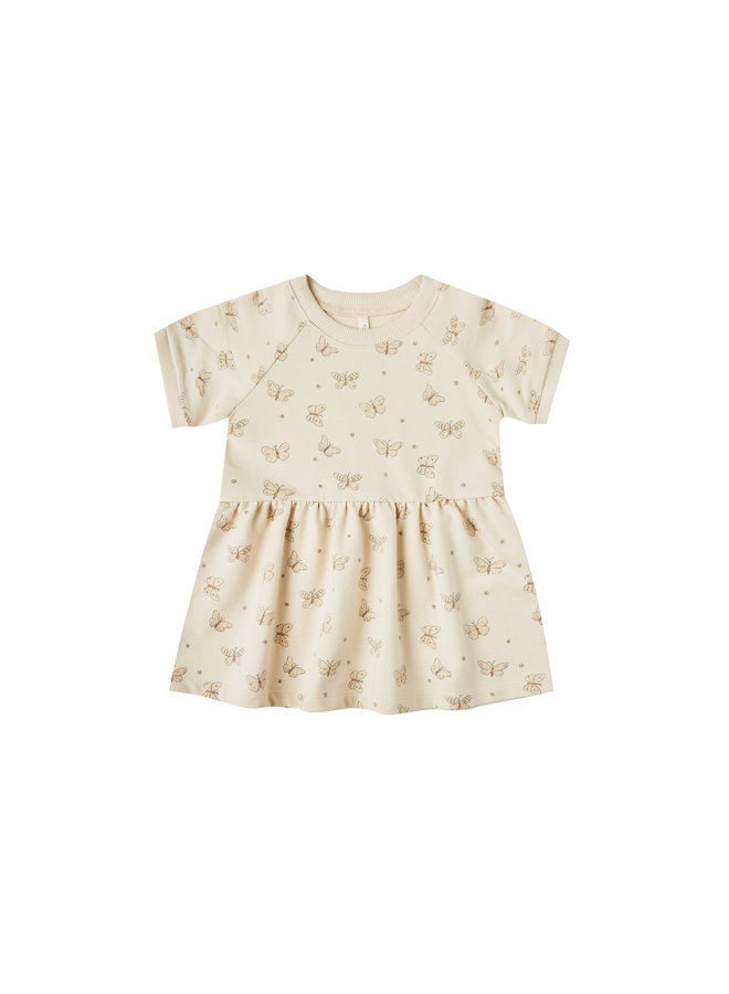 Butterfly Raglan Dress -  Natural