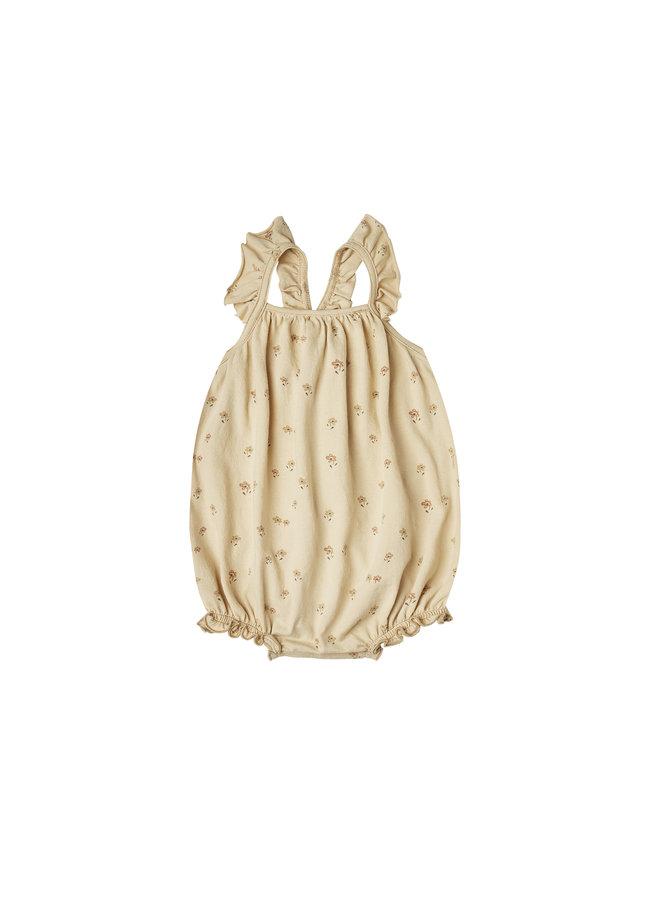Little Flower Clementine Onesie - Butter