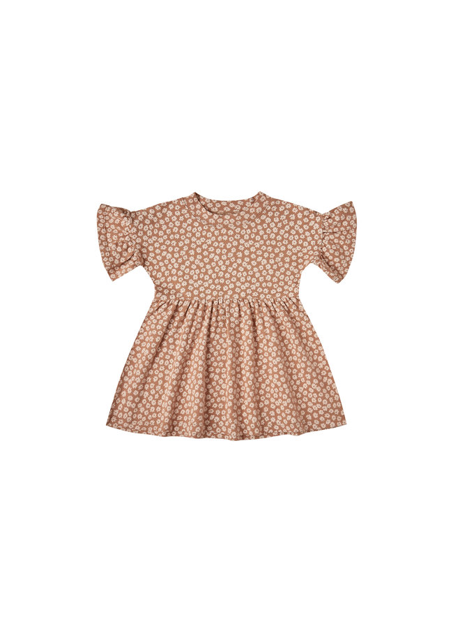 Jersey Babydoll Dress - Terracotta