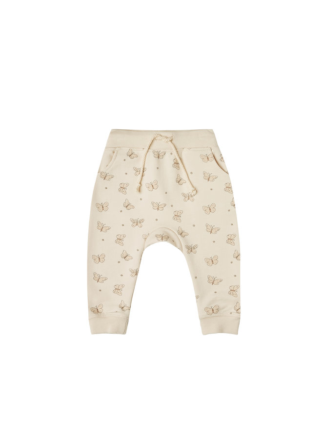 Butterfly Terry Sweatpant - Natural