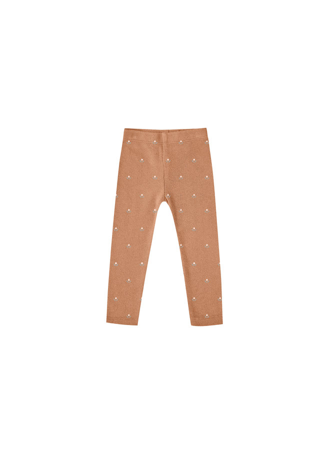 Bud Microknit Legging - Terracotta
