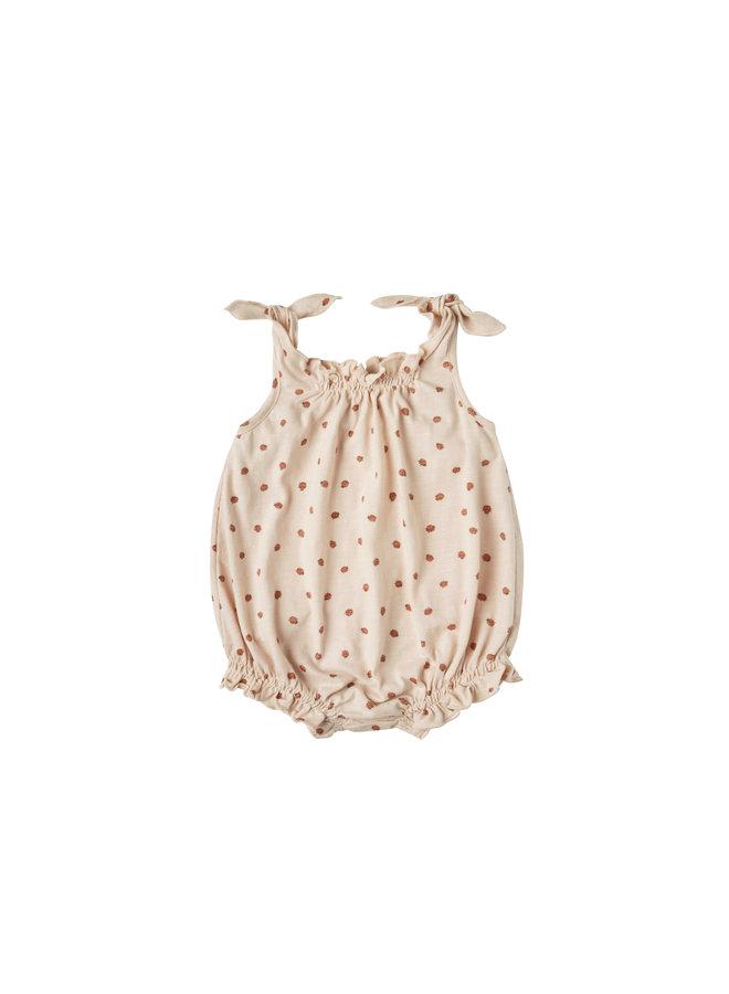 Ladybugs Shoulder Tie Onesie - Shell