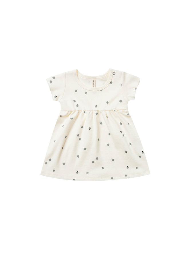 Short Sleeve Baby Dress - Ivory