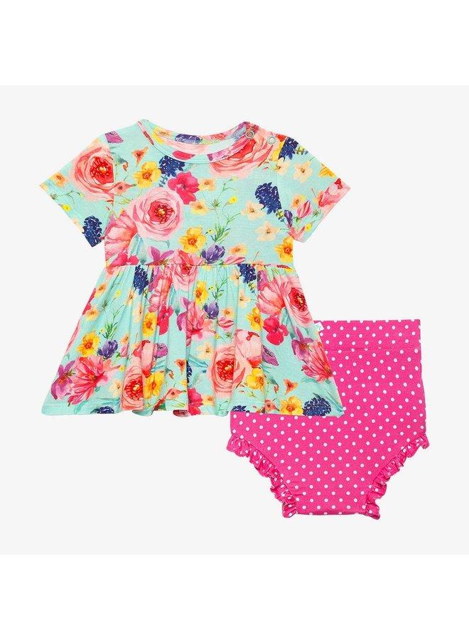 Olivia Mae - Short Sleeve Bloomer Set