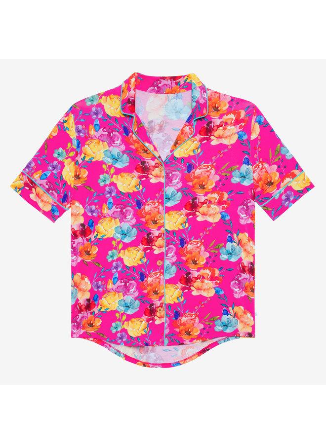 Aminatu - Women's Short Sleeve Shirt & Shorts Pajama Set