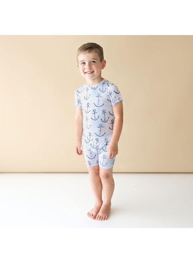 Anchors Away - Basic Short Sleeve & Short Length Pajama