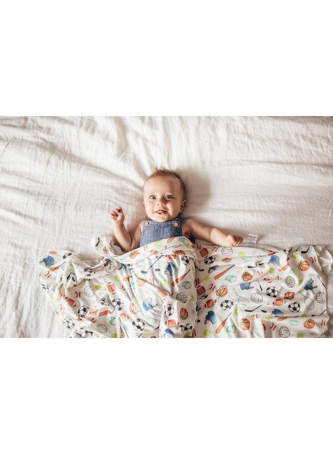 Varsity Knit Blanket Single
