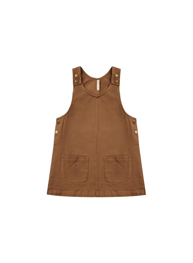 Odette Overall Dress - Rust
