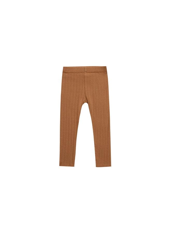 Ribbed Leggings - Rust