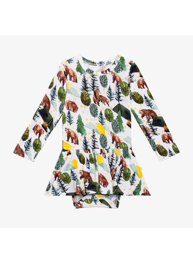 Archer - Long Sleeve Basic Twirl Skirt Bodysuit *PREORDER*