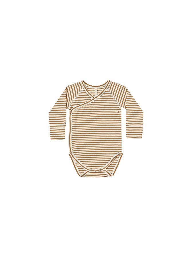 Side Snap Bodysuit - Walnut Stripe