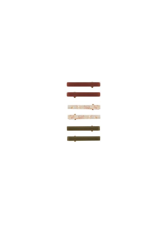 Hair Clip Pack - Rose/Wine/Olive