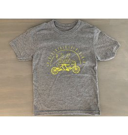 Fix Coffee+Bikes Fix Youth T-Shirt by SB - Heather Grey
