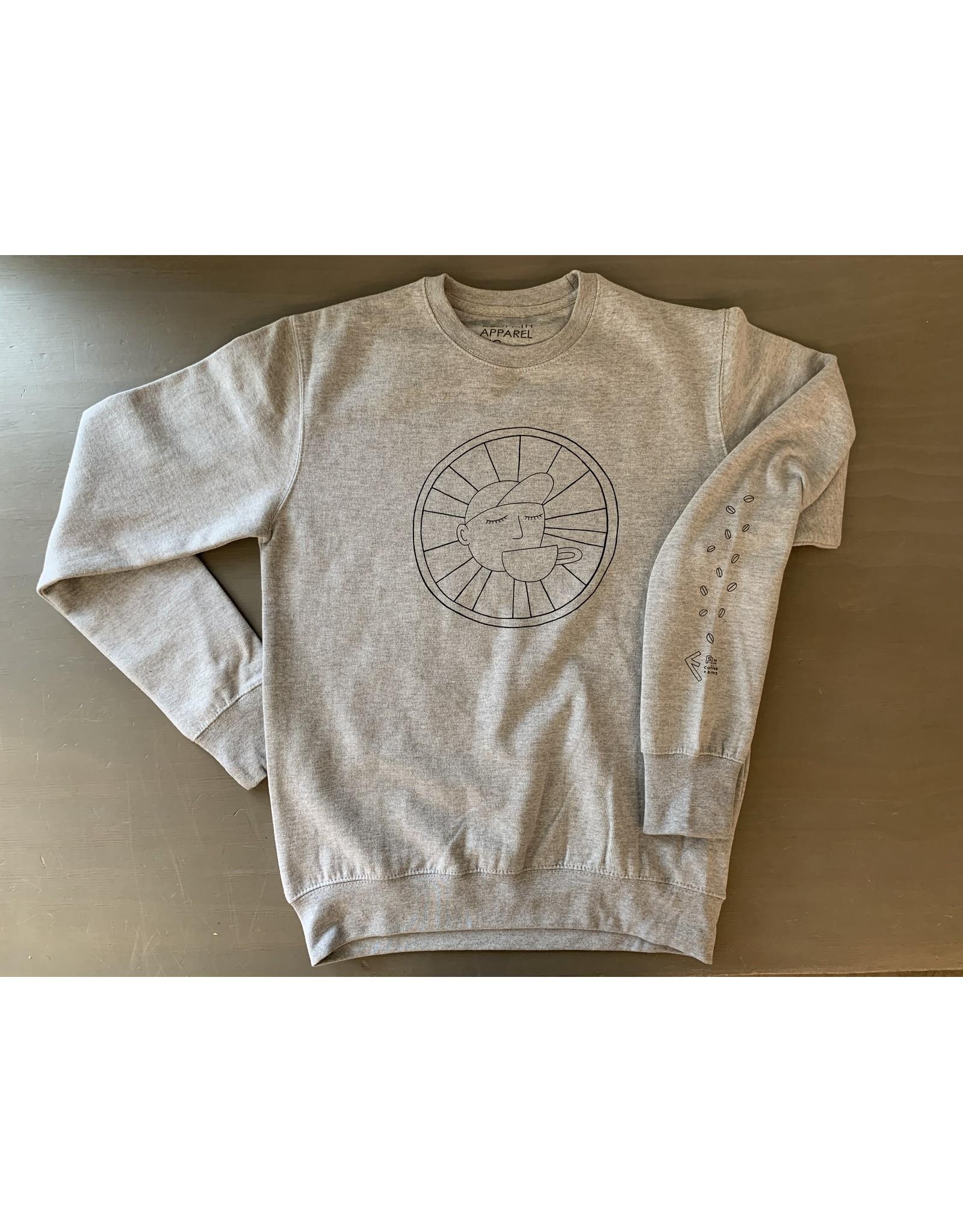 Fix Coffee+Bikes Fix Crewneck Sweatshirt by SB - Grey