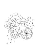 Fix Coffee+Bikes Fix Adult T-Shirt by SB