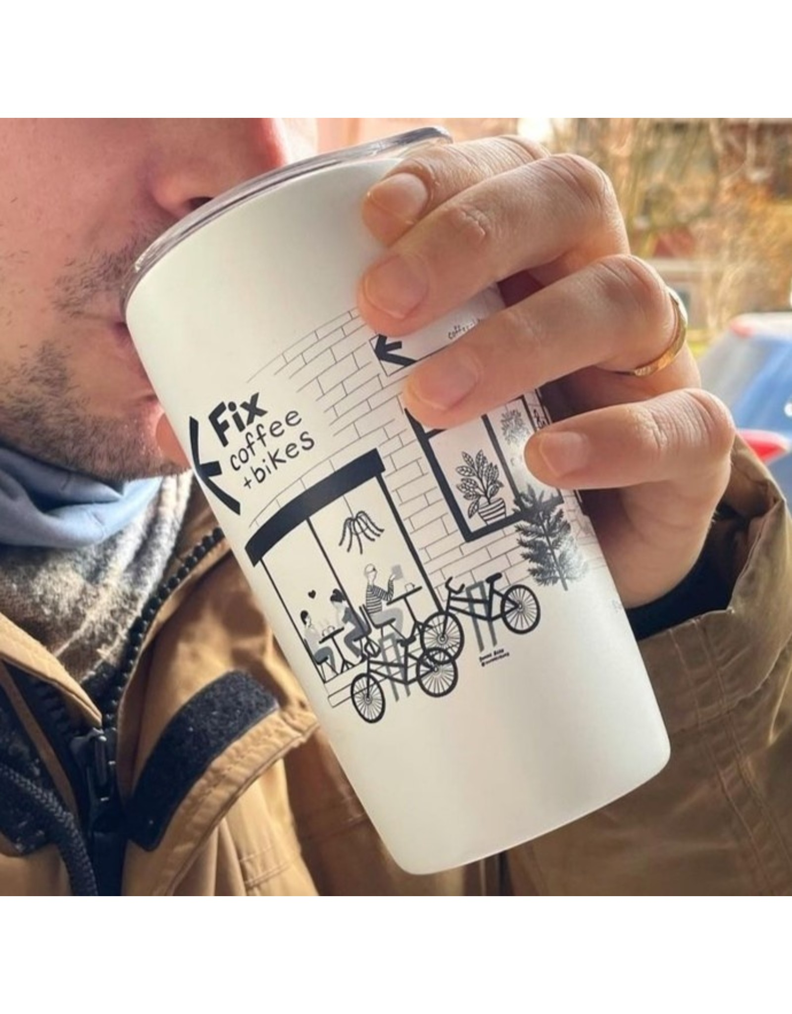 Fix Coffee+Bikes Fix 12oz Miir Tumbler by SB