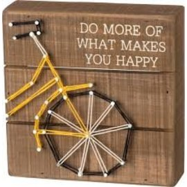 Primitives by Kathy String Box Sign - Make Happy