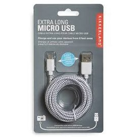 Kikkerland CABLE 6 FOOT MICRO USB ASSORTED
