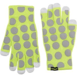 CycleAware CycleAware Reflect+ Hi-Vis Reflective Glove: Neon Green/Dots, SM/MD