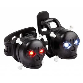 Kikkerland SKULL LED BIKE LIGHTS SET OF 2 BLK