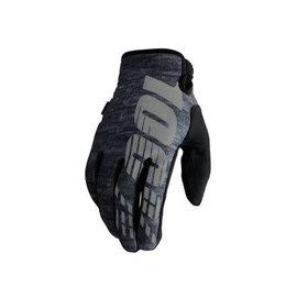 100% 100% Brisker Glove: Heather Gray MD