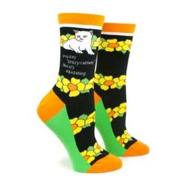 anne taintor Crew Socks - Crazy Cat Lady