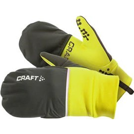 Craft Craft Hybrid Weather Glove: Yellow/Black LG