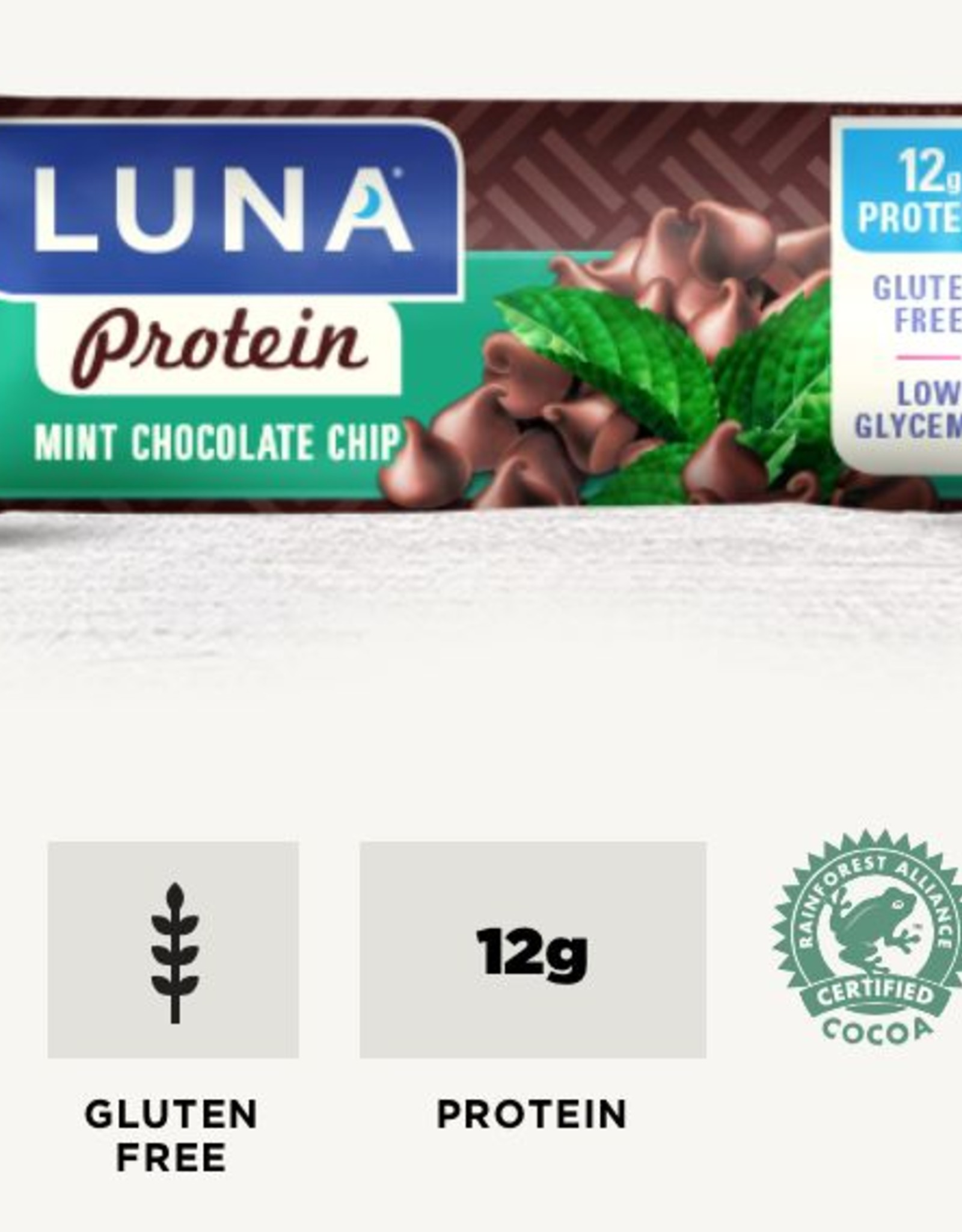 Clif Luna Protein Mint Chocolate Chip Bike Stop Cafe Outpost