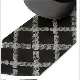 Cyberoptix Tie Lab Bike Chain Tartan Necktie
