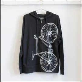 Vital Industries Lightweight Fixie Hoodie- Charcoal/White