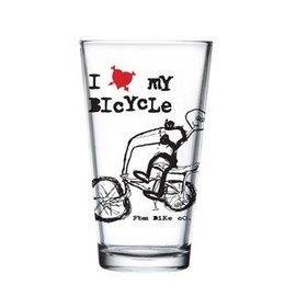 FBM Love My Bike Pint Glass