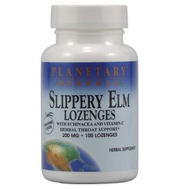 Planetary Herbals Slippery Elm Lozenges + Echinacea & Vitamin C 200mg Tangerine