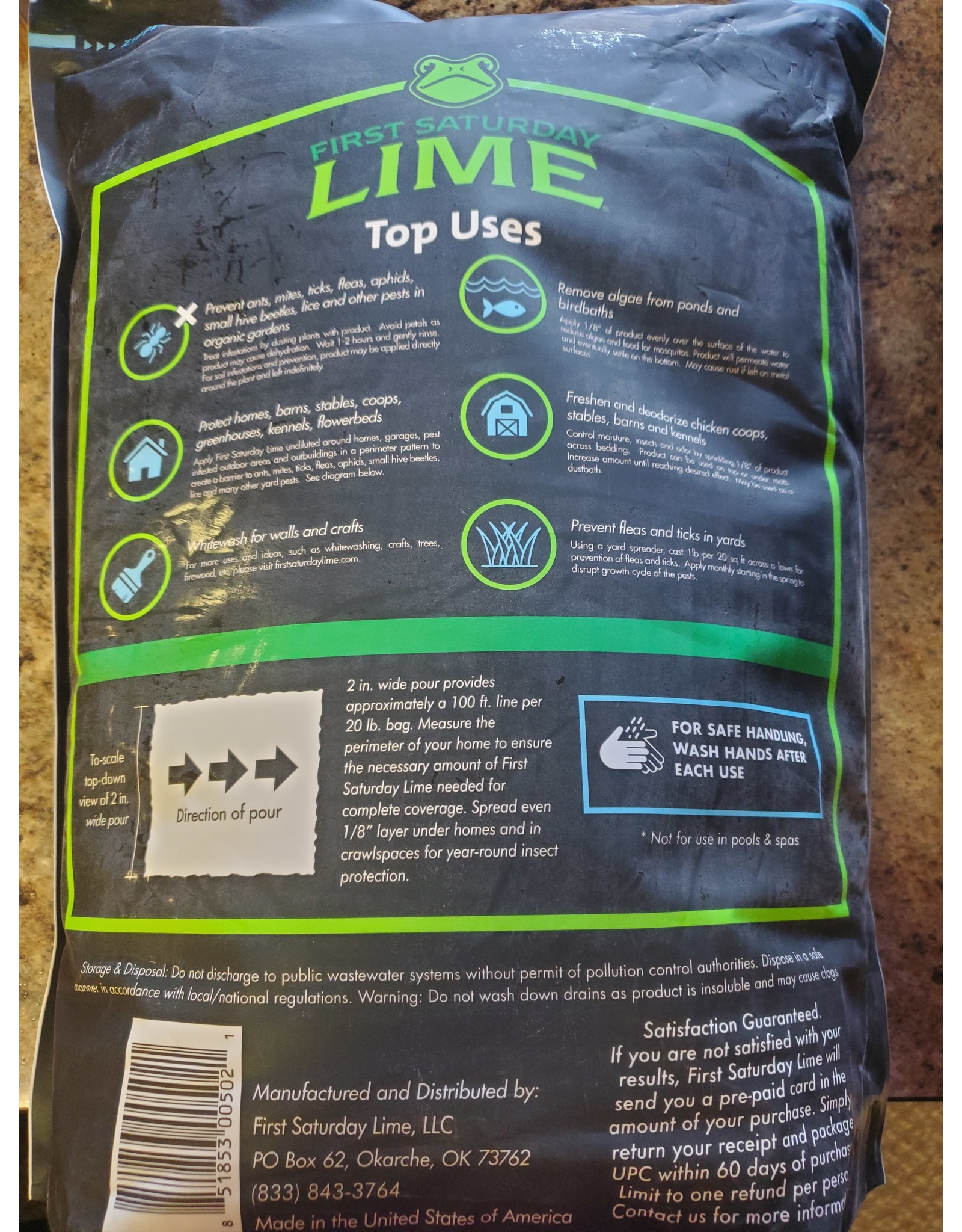 First Saturday Lime 20 lb bag