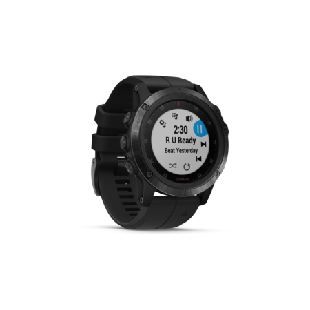 GARMIN fēnix® 5X Plus Sapphire, Black with Black Band
