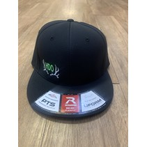 HDO FLEXFIT HAT BLACK W/ GREEN LG-XL