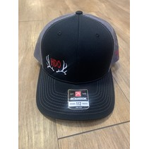 HDO SNAP BACK HAT BLACK/CHARCOAL W/ RED