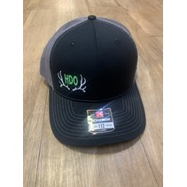 HDO SNAP BACK HAT BLACK/CHARCOAL W/ FLO GREEN