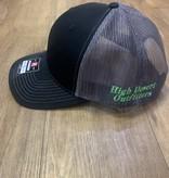 HIGH DESERT ARCHERY HDO SNAP BACK HAT BLACK/CHARCOAL W/ FLO GREEN