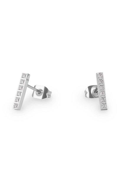 Boucles d'oreilles - Barre Acier Inox Argent