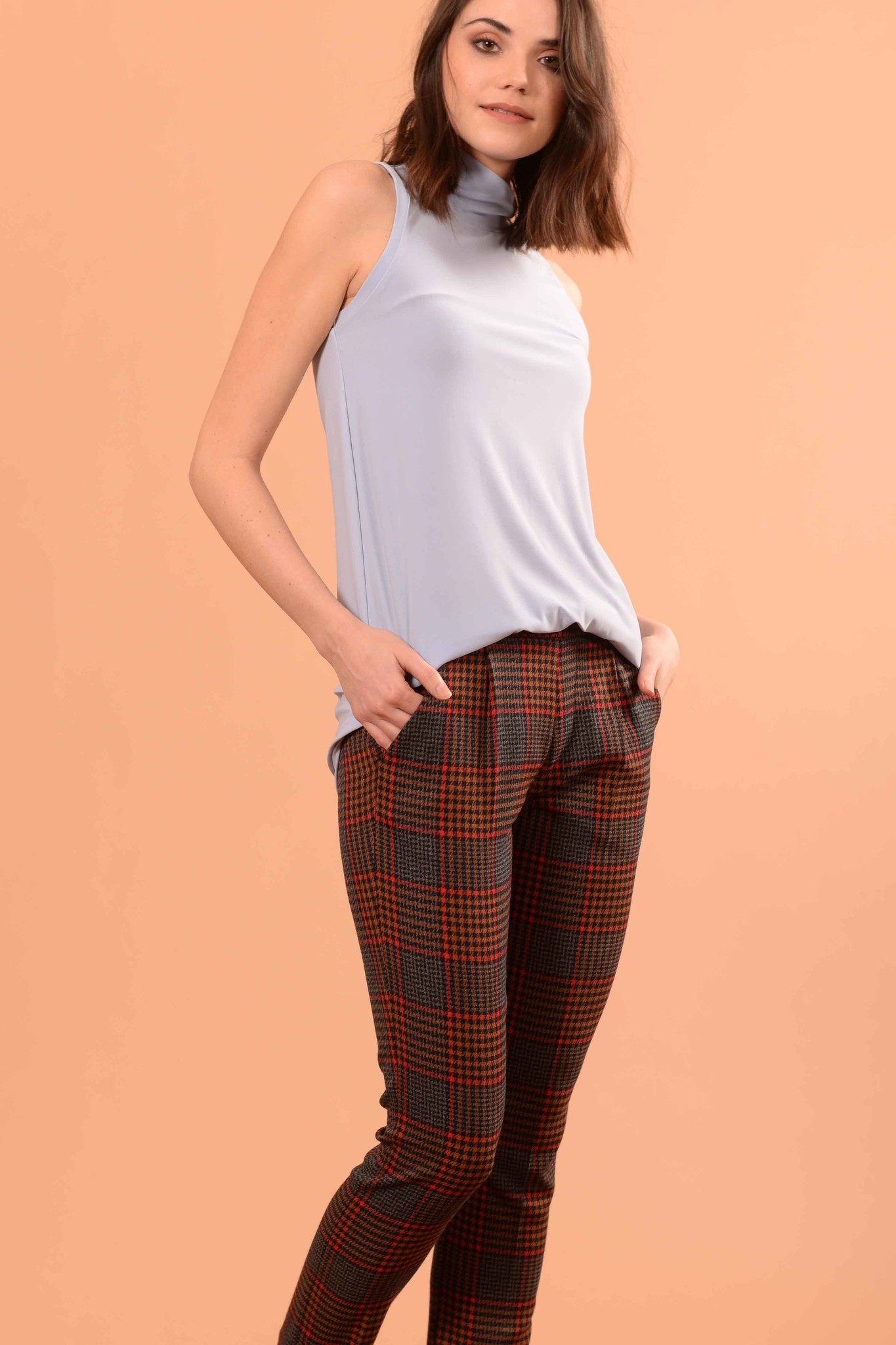 Matea Plaid Camel-1