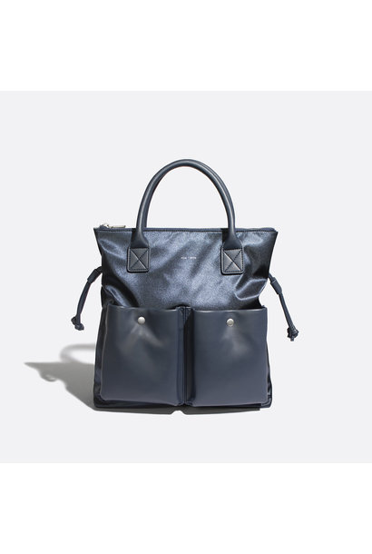 Avery Tote - Satin Blue