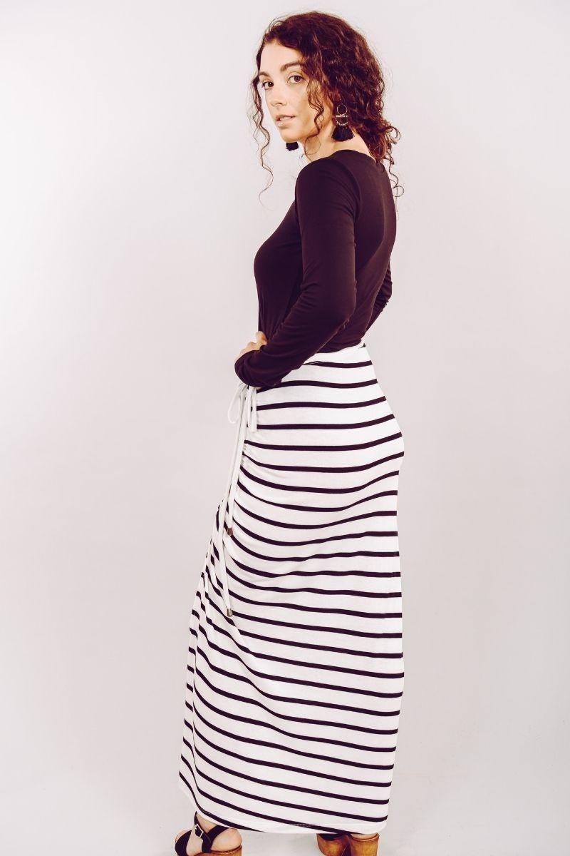 Bleuette Blanc Rayure Noire-3