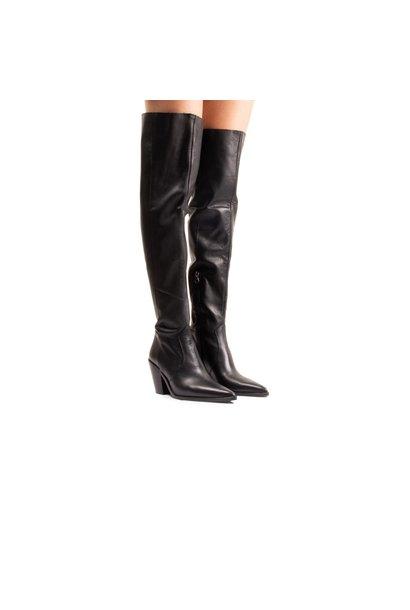 Riu Black Leather